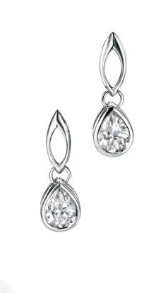 Picture of Clear Teardrop CZ Stud Earrings
