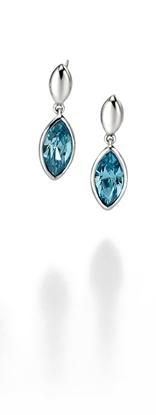 Picture of FS Aquamarine Drop Earrings