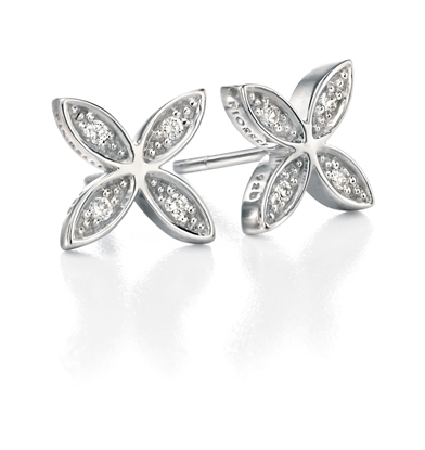 Picture of FS White CZ Small Flower Studs
