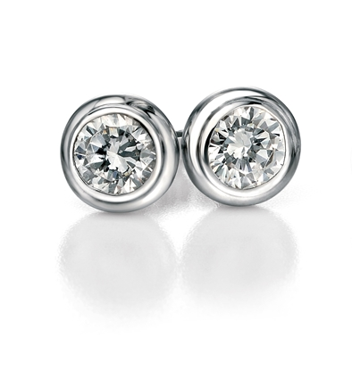 Picture of FS Round Clear Cz Stud Earrings