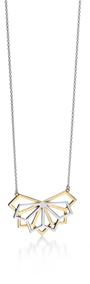 Picture of FS 2 TONE CUT OUT ANGULAR NECKLACE
