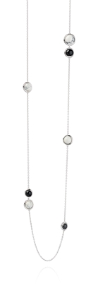 Picture of FS Black Agate And Howlite Station Necklace