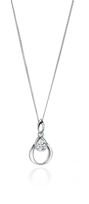 Picture of Clear Teardrop CZ Pendant
