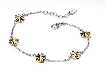 Picture of FS 3D Two Tone Star Station Bracelet