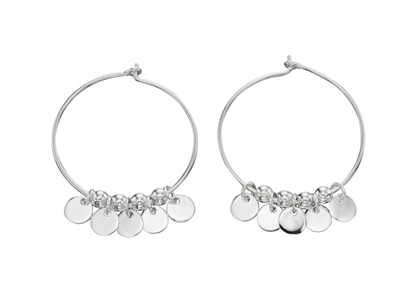 Picture of 5Mm Round Disc Hoop Earrings