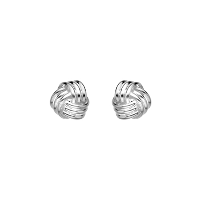 Picture of Silver 10mm Knot Earrings