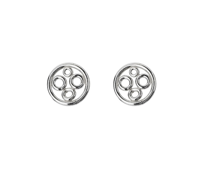 Picture of  Silver Fused Circle Earrings