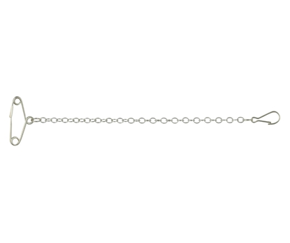 Picture of Silver Brooch Safety Chain
