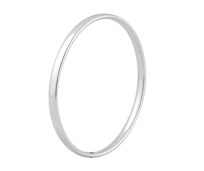 Picture of Silver Court Shaped Bangle 2