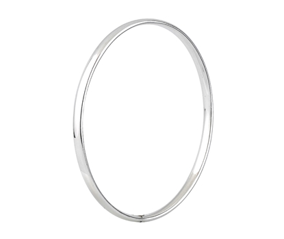 Picture of Silver Court Shaped Bangle 1