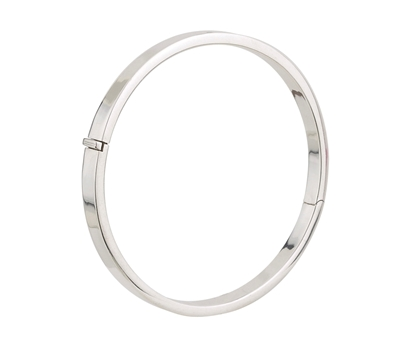 Picture of Silver Hinged Round Bangle 1