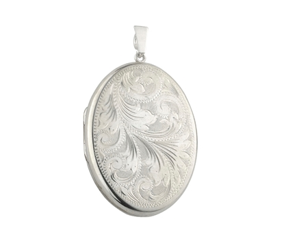 Picture of Silver Locket 1 Engraving B