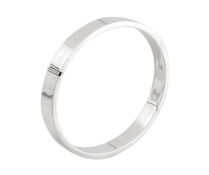 Picture of Silver Hinged Round Bangle 2