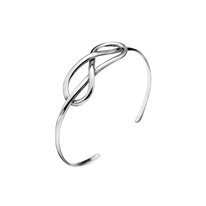 Picture of Silver Single Reef Knot Torque Bangle 14