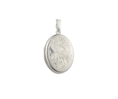 Picture of Silver Locket 3 Engraving B
