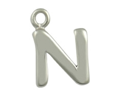 Picture of Silver Letter 'N'