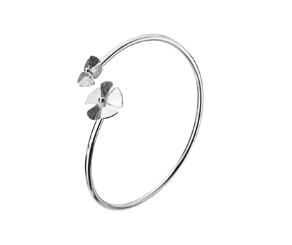 Picture of Silver Echo 1Z Flower Bangle Bracelet