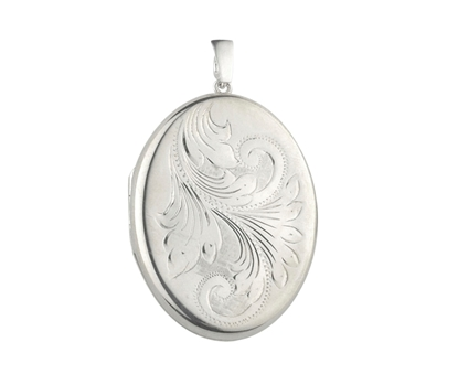 Picture of Silver Locket 1 Engraving C