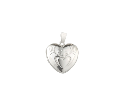 Picture of Silver Locket 8 Embossed