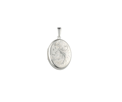 Picture of Silver Locket 4 Engraving E