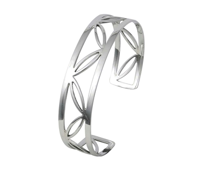 Picture of Silver Torque Bangle 1D