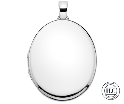 Picture of Sterling Silver H Curteis Plain Oval Locket Pendant