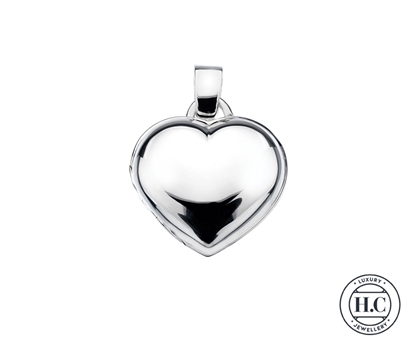 Picture of Sterling Silver H Curteis Heart Plain Locket Pendant