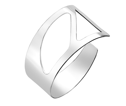 Picture of Silver Torque Bangle 12N