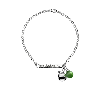 Picture of  Silver Bracelet with Delicious Apple Pendant 7.5/19cm