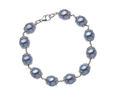 Picture of  Silver Bracelet with Pale Blue Swarovski Pearl 7.5/19