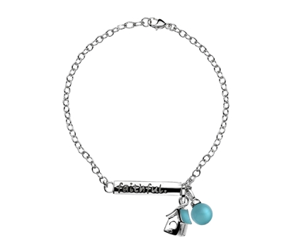 Picture of  Silver Bracelet with Faithful Bird House Pendant 7.5/