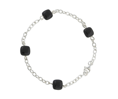 Picture of  Silver 28/8A With Black Onyx Squares 7.5/19cm