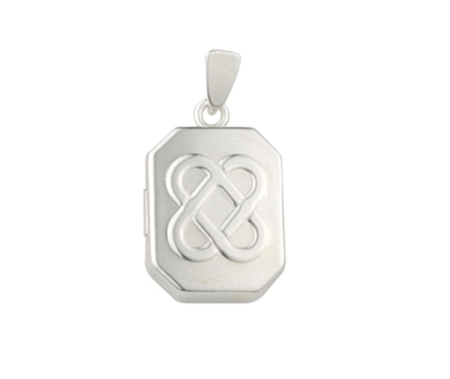 Picture of Silver Locket 7 Embossed