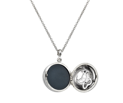 Picture of Silver Family Locket 6 with Butterfly Charm