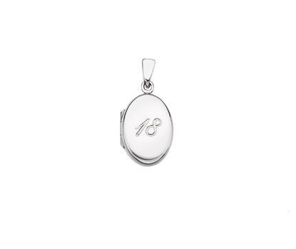 Picture of Silver Locket 5 Engraved Age 18