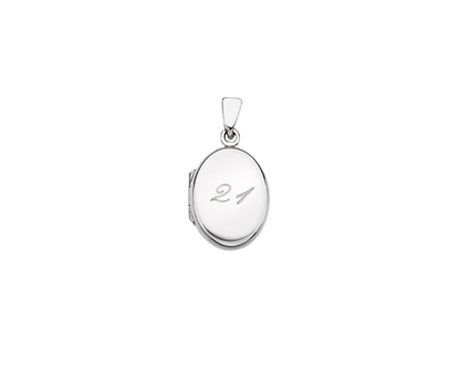 Picture of Silver Locket 5 Engraved Age 21