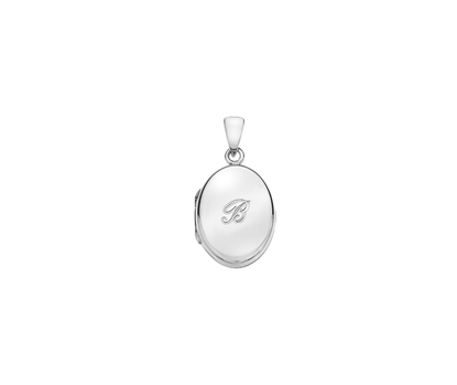 Picture of Silver Locket 5 Engraved Letter B