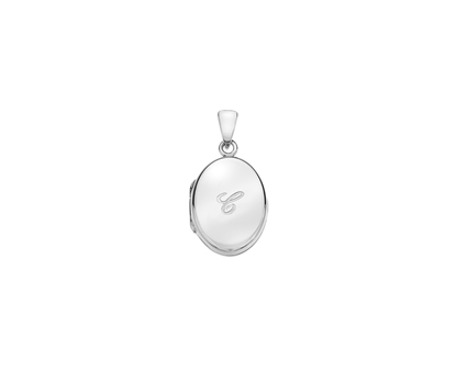 Picture of Silver Locket 5 Engraved Letter C
