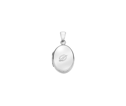 Picture of Silver Locket 5 Engraved Letter D
