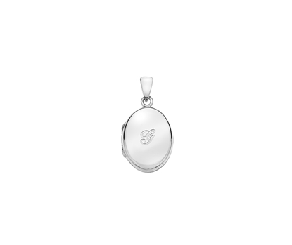 Picture of Silver Locket 5 Engraved Letter G