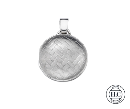 Picture of Sterling Silver H Curteis Crisscross Design Round Locket Pen