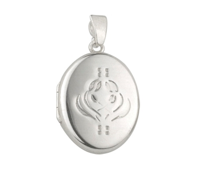 Picture of Silver Locket 4 with Flower Embossing