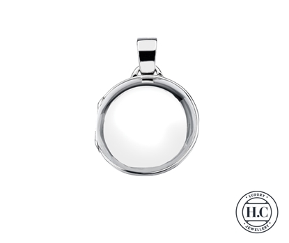 Picture of Sterling Silver H Curteis Round Plain Locket Pendant