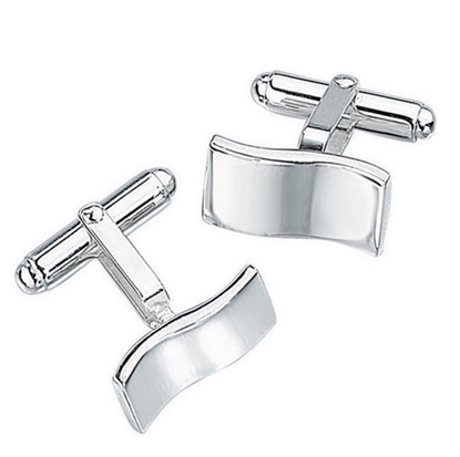 Picture of Men's Wavy Design Cufflink