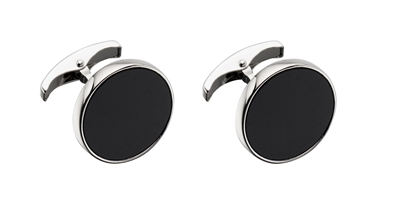 Picture of Black Resin Round Cufflinks
