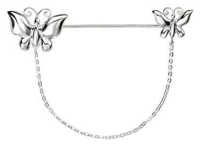 Picture of Butterfly Brooch With Chain