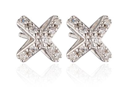 Picture of CZ Set 3D Cross Stud Earrings