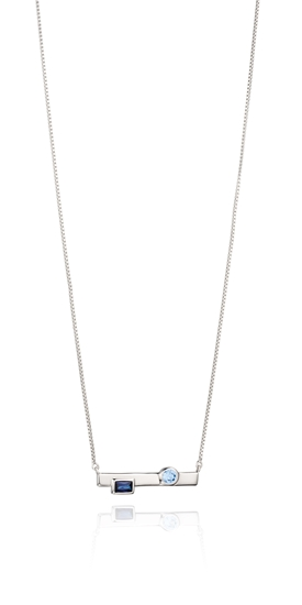 Picture of Bar Necklace With Created Nano Crystal
