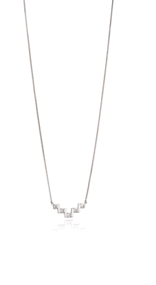 Picture of Bar Necklace With Cubic Zirconia