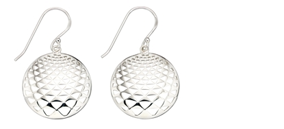 Picture of 3D Effect Disc Drop Earrings